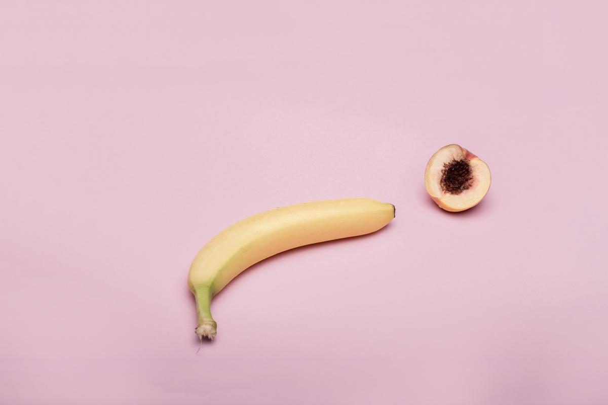 Banana peach foodporn