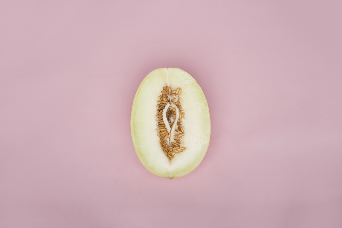 Food porn melon vagina