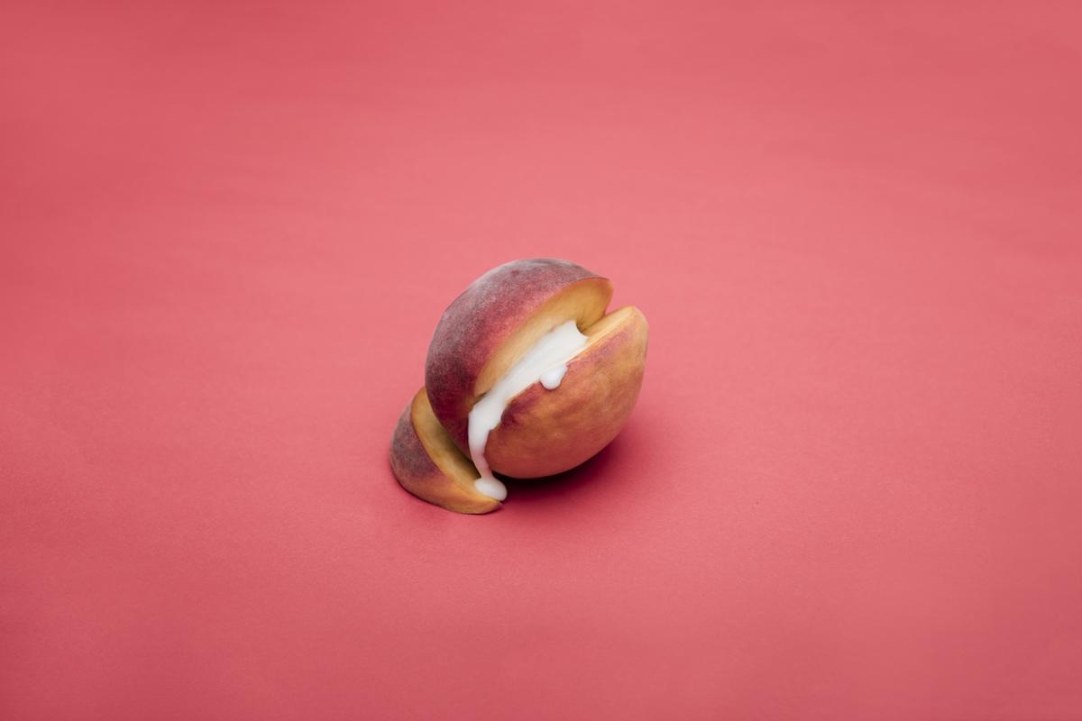Peach semen foodporn