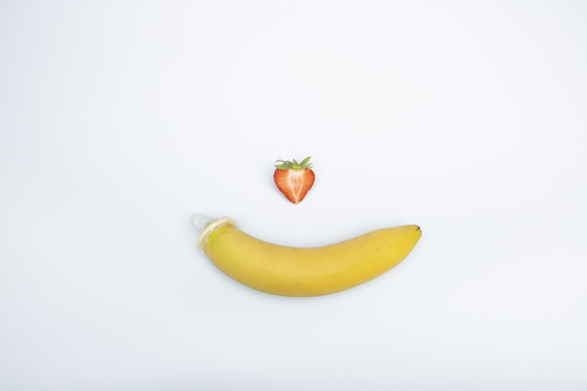 banana strawberry erotic safe sex
