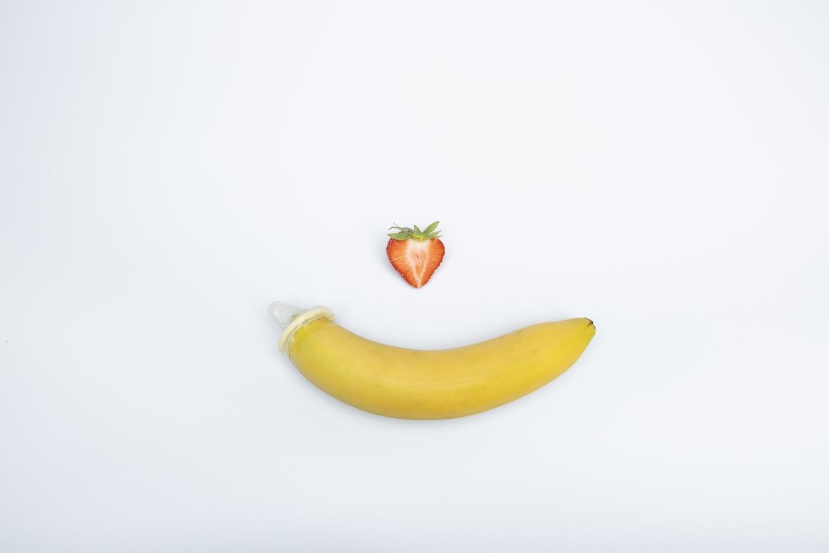 banana strawberry erotic safe sex