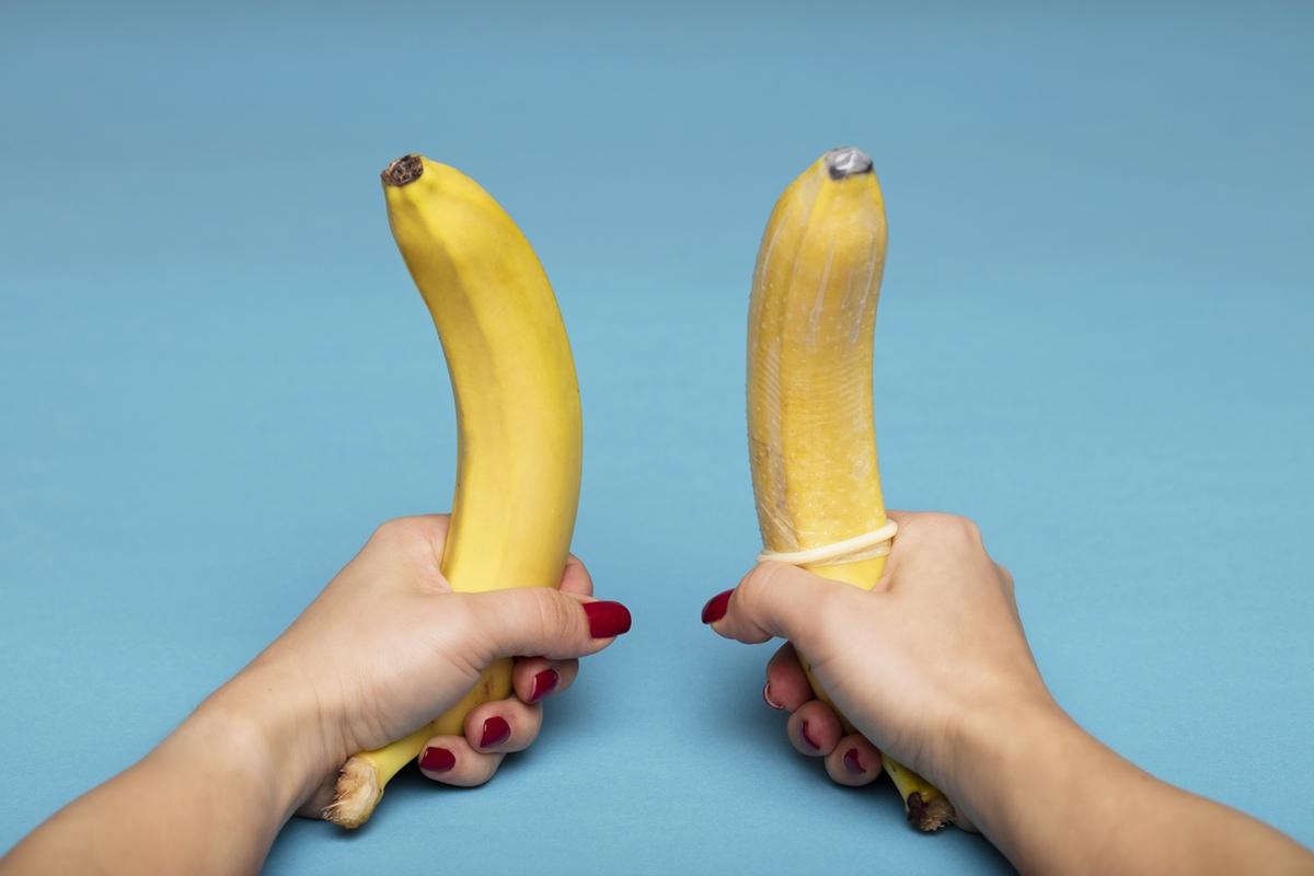 bananas with condoms