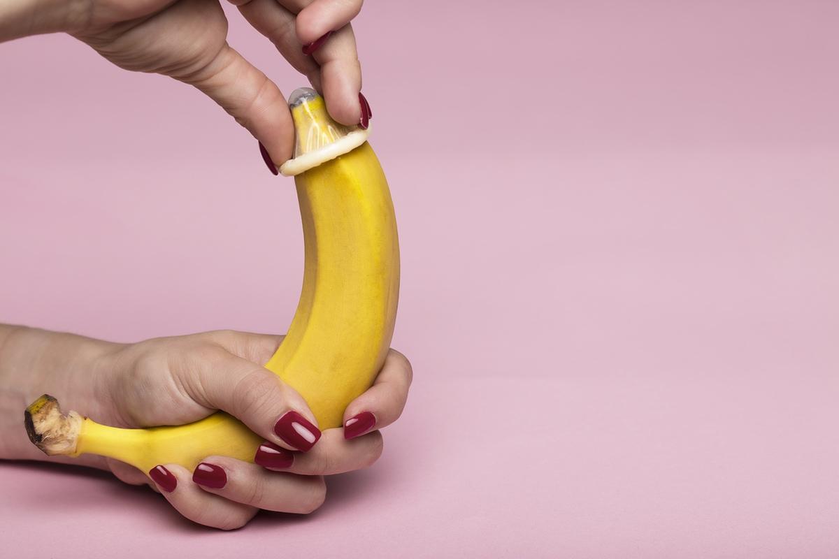 condom on banana erotic image free