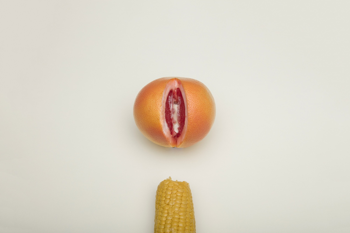 corn orange vagina dick erotic sex