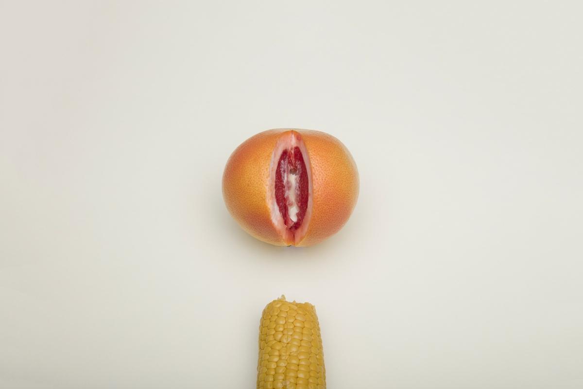 corn orange vagina dick erotic sex