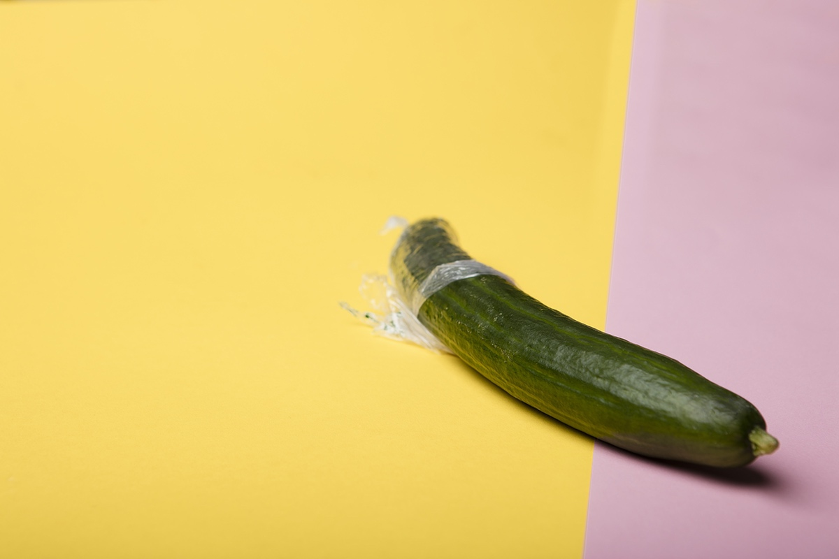 cucumber yellow background