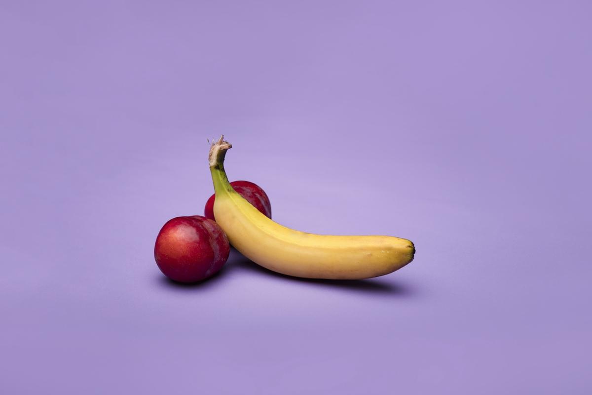 dick peach banana