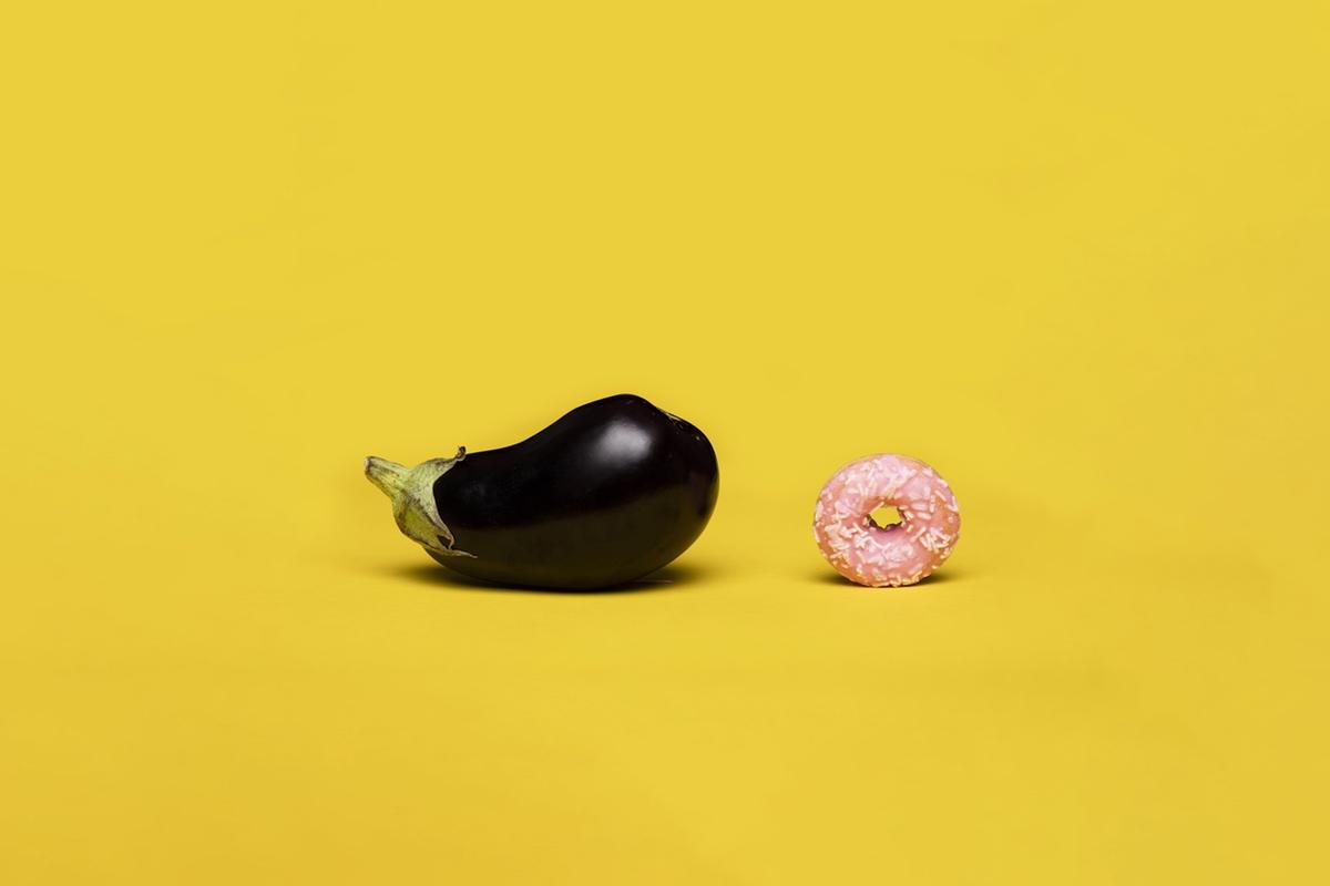 eggplant donut resembling penetration