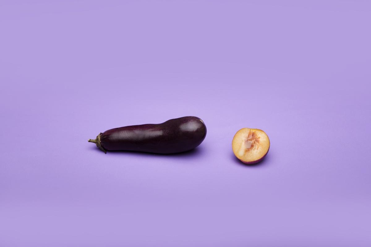 eggplant peach resembling human sexuality