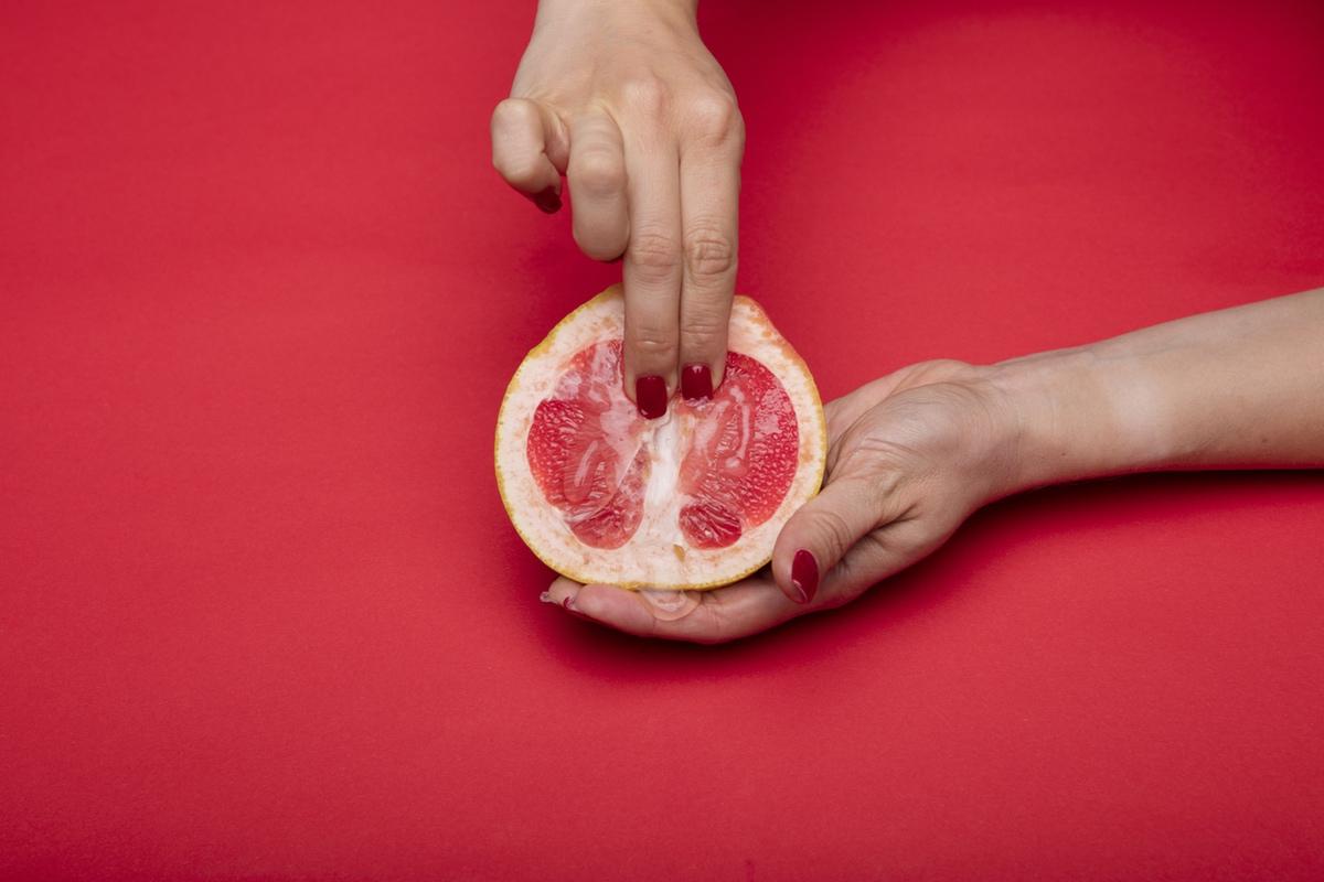 fingers pomegranade kinky photo