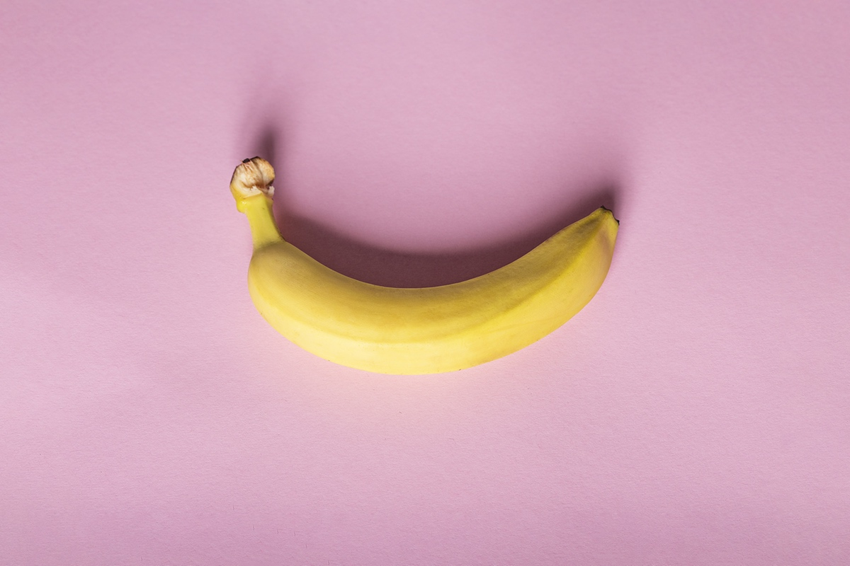free erotic photos banana pink background