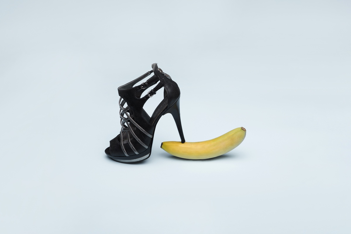 high heels banana erotic girl power