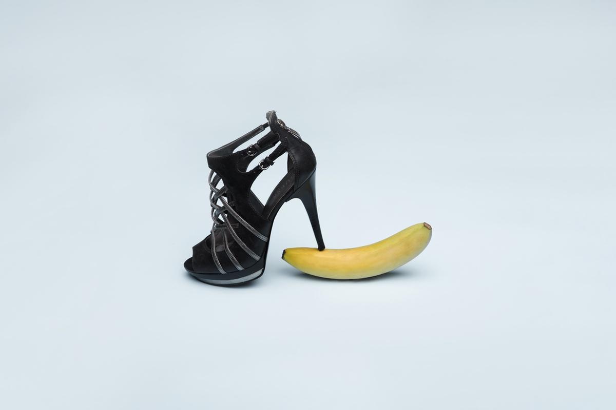 high heels banana erotic girl power