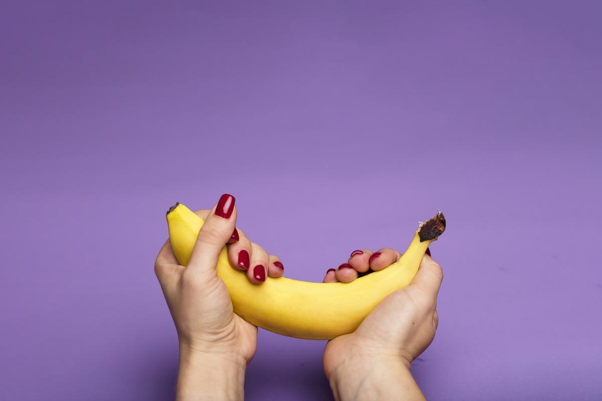 holding banana