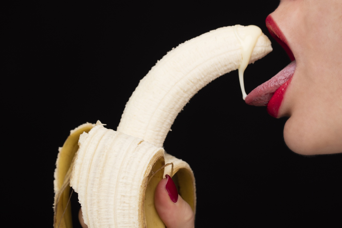 mouth banana lips