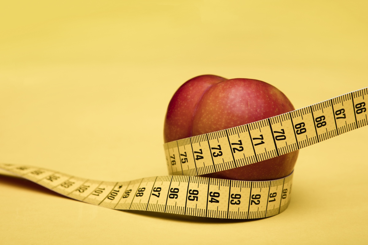peach resembling booty measure