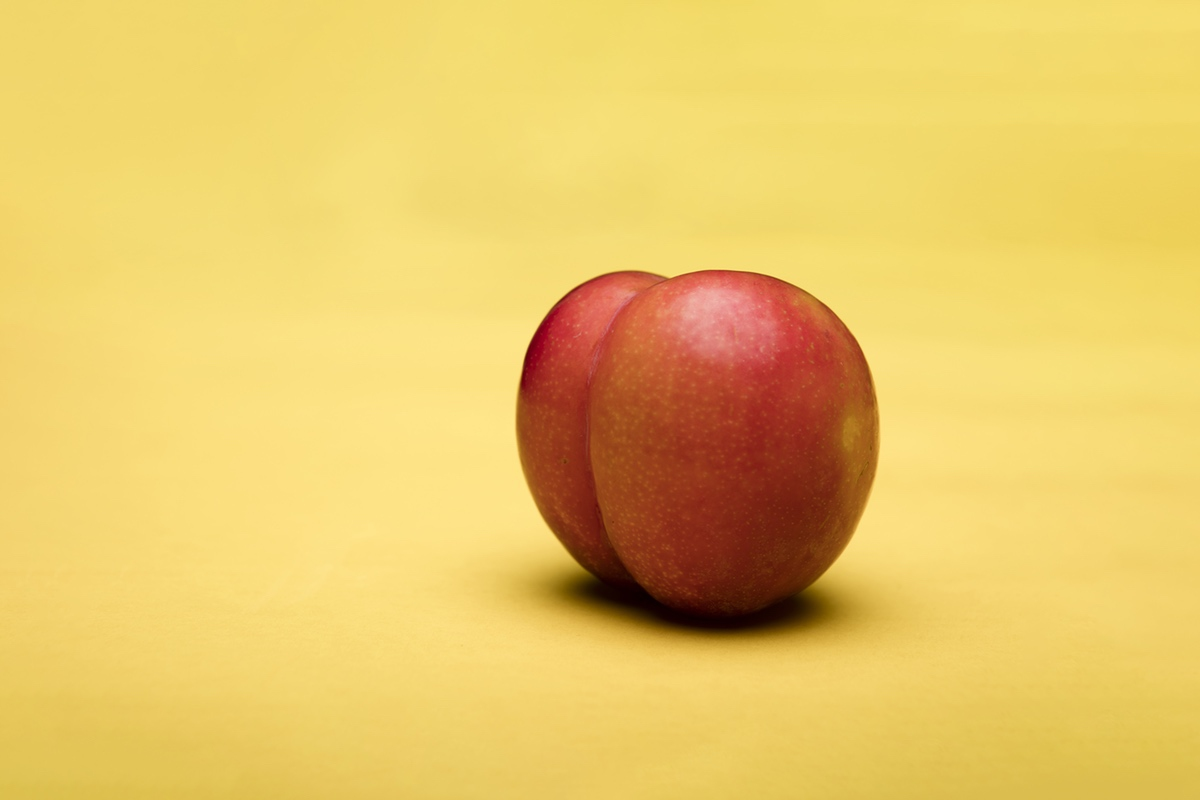 peach yellow background erotic