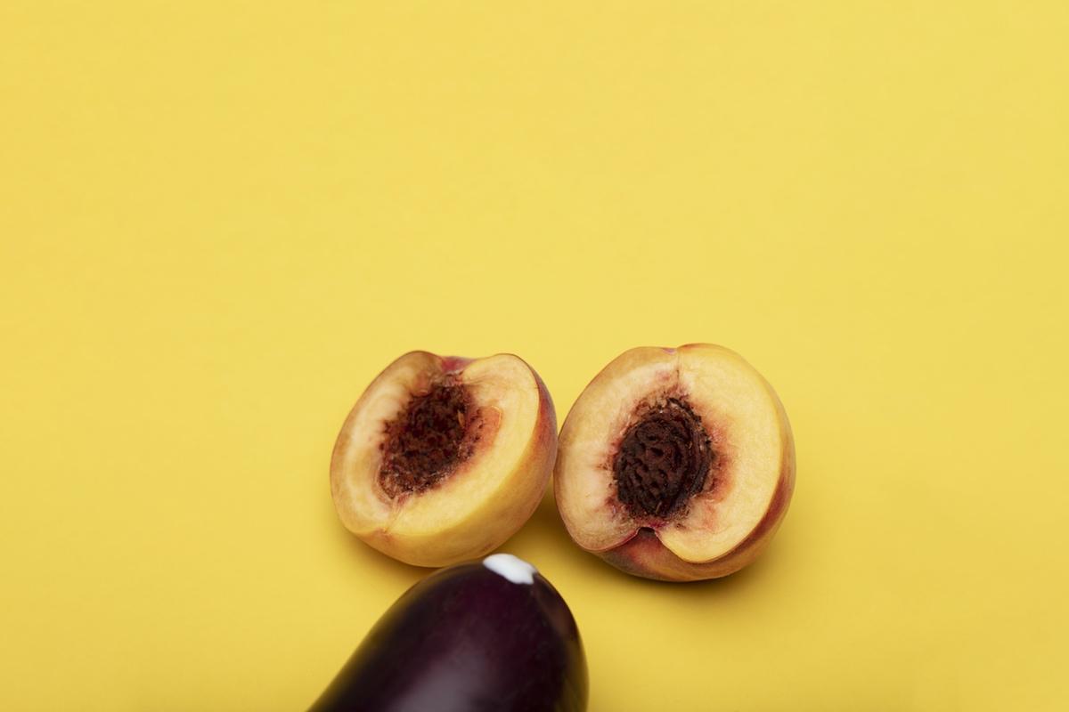 peaches eggplant