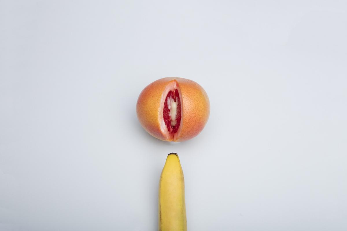 semen banana orange fruit love